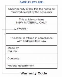 Sample Label Law